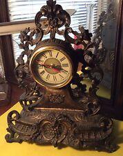 "Deluxe Mantle / Desk Clock Sheng Bang Quartz HD 1688 15"" Tall 12"" Base"