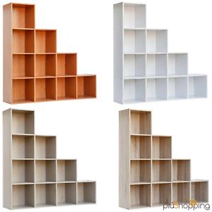 Cubi Arredamento Legno.Dettagli Su Libreria Design Moderno In Legno 10 Cubi Scala Arredo Salotto Soggiorno Casa