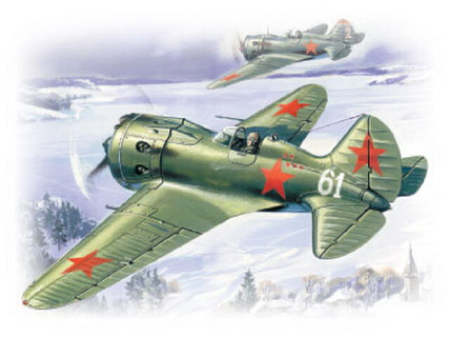 ICM 72071 I-16 type 24 WWII Soviet fighter 1/72 airplane toy model kit