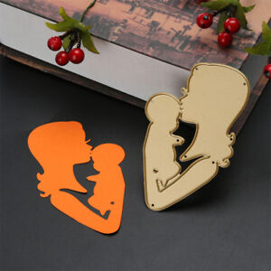 Beautiful-Mother-Kiss-Baby-Metal-Cutting-Dies-Photo-Album-Decor-Cutter-Card-PL