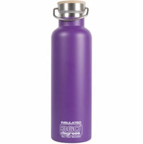 NEW 360 DEGREES VACUUM INSULATED STAINLESS STEEL DRINK BOTTLE NON TOXIC PURPLE