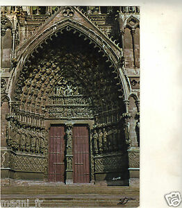 80-TARJETA-POSTAL-AMIENS-El-portal-de-la-catedral-i-5598