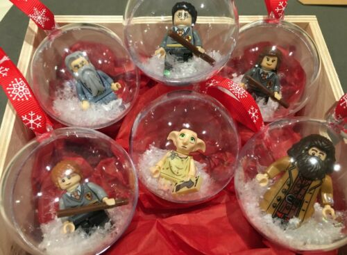 HARRY POTTER DOBBY Christmas baubles LEGO gift present minifigures VALENTINES