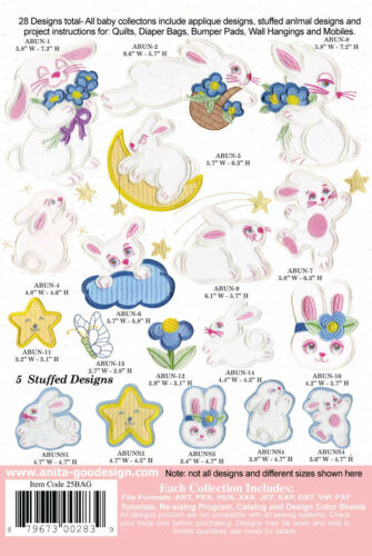 Your choice of one collection. Anita Goodesign Baby Collections