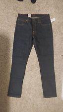 $185 Nudie Jeans Denim Grim Tim Dry Navy 32W 34L