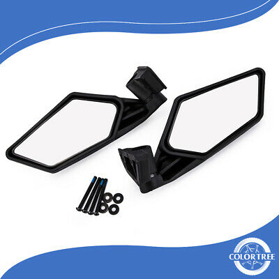 2x  Motorcycle Rear View Mirrors Racing UTV Side Mirrors for Can-Am Maverick X3