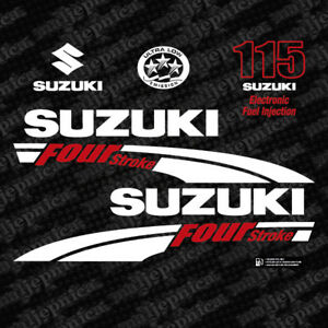 Details About Suzuki 115 Four Stroke 2004 Outboard Decal Aufkleber Adesivo Sticker Set