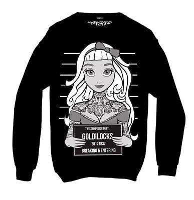 Twisted Goldilocks Black Tattoo Mugshot Sweatshirt Gothic Alternative Clothing