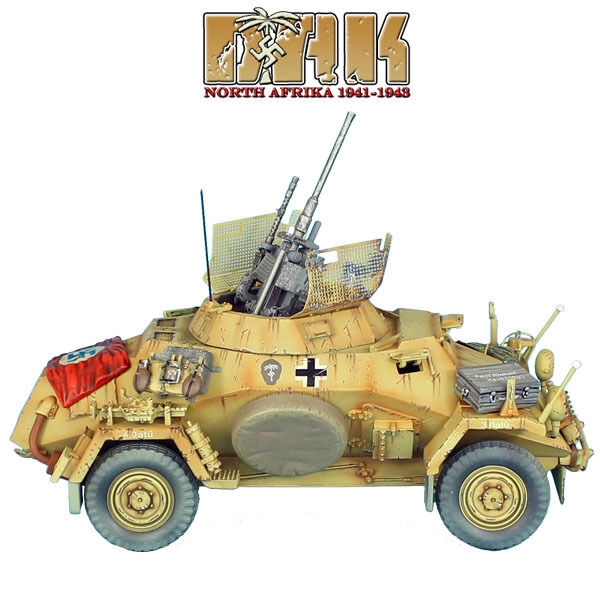 First Legion  DAK023 SdKfz 222 ljus Armed Reconnaissance Vehicle - 90th Pz.