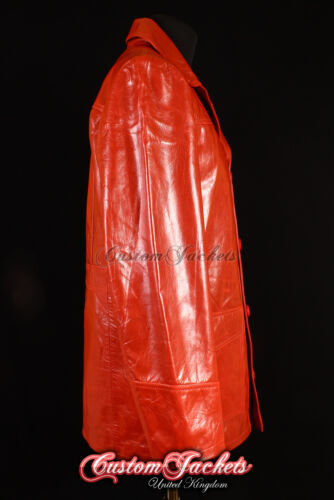 Men/'s FIGHT CLUB ORIGINAL RED Hollywood Movies Style Coat Real Leather Jacket