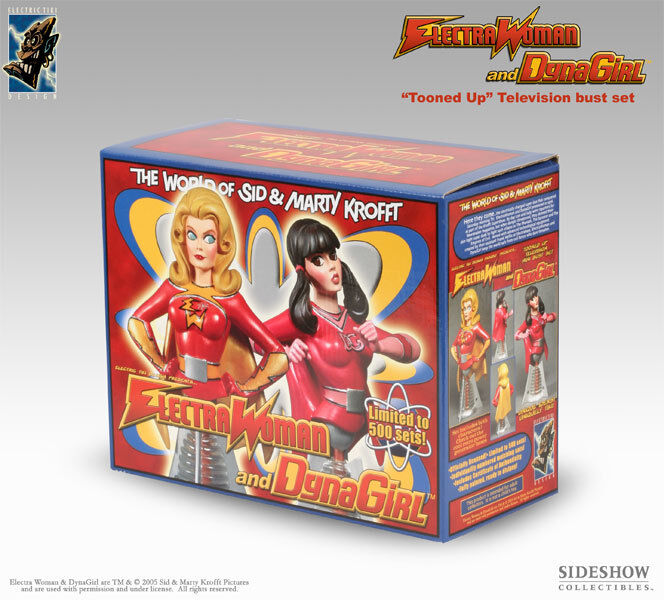 Electric Tiki Electra Woman & Dyna Ragazza Tooned-Up Busti