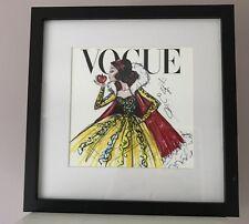 Disney Vogue Princess Framed Wall Art Picture Print 30x30cm - Snow White