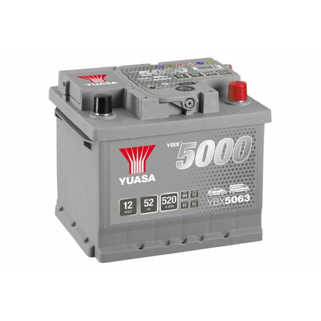 Batterie YUASA YBX5063 50AH 480A FORD-MONDEO 1.6 i 16V-90-Essence-04/1993<0