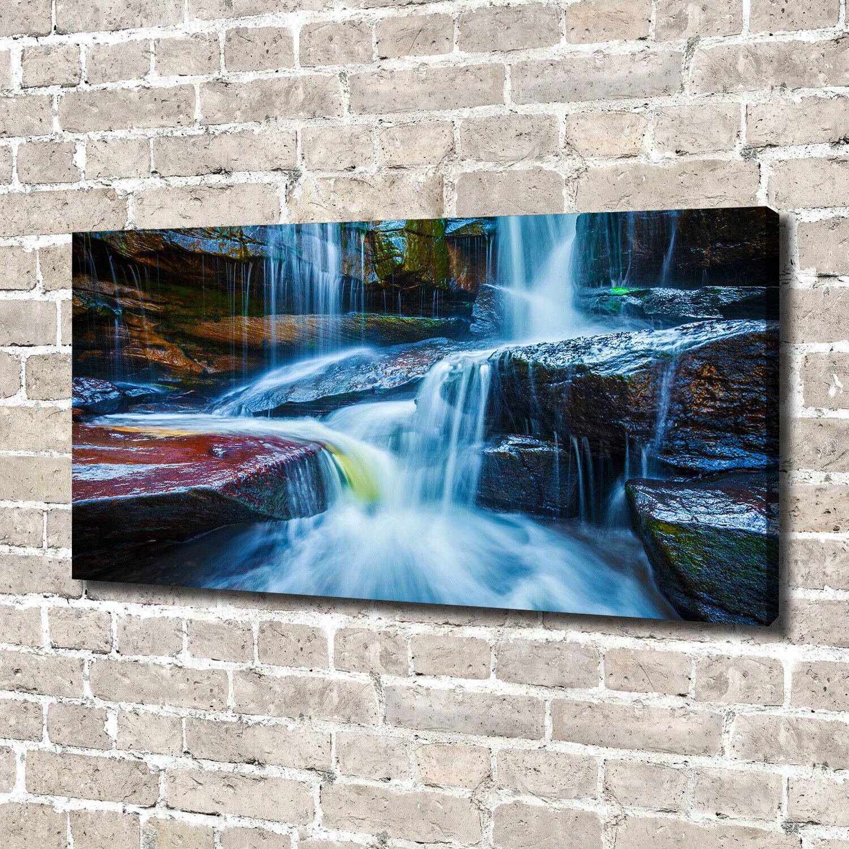 Leinwandbild Kunst-Druck 140x70 Bilder Landschaften Wasserfall Tropisch