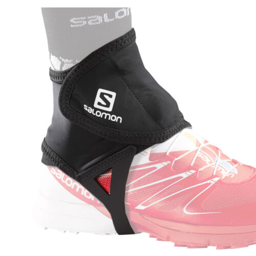 Salomon Trail Gaiters Low Black Running Sport Gamaschen Trail Schwarz