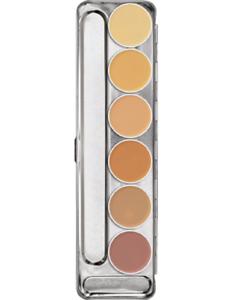 Image is loading Kryolan-Dermacolor-Camouflage-Creme-6-Color-Makeup-Palette