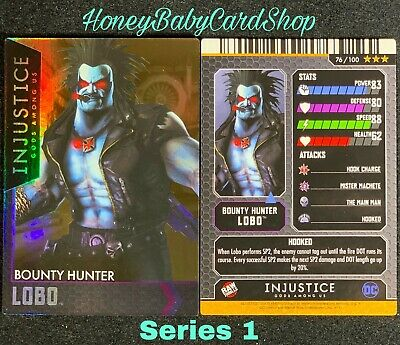 Injustice Arcade Series 1 Out of Print Card 76 Bounty Hunter Lobo Holofoil