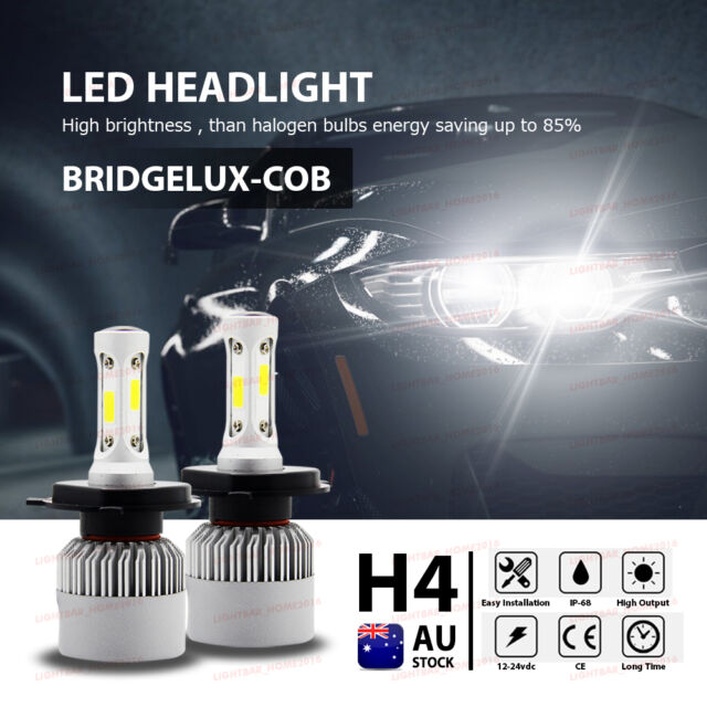 252W H4 CSP LED Headlights KIT Bulbs Hi-Lo Beam 25000LM vs Halogen Xenon HID