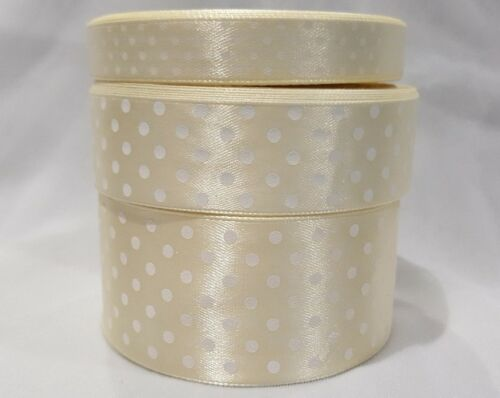 2 MT RUNNING STITCH Ribbon Cream With Gold Metallic Thread 25 mm