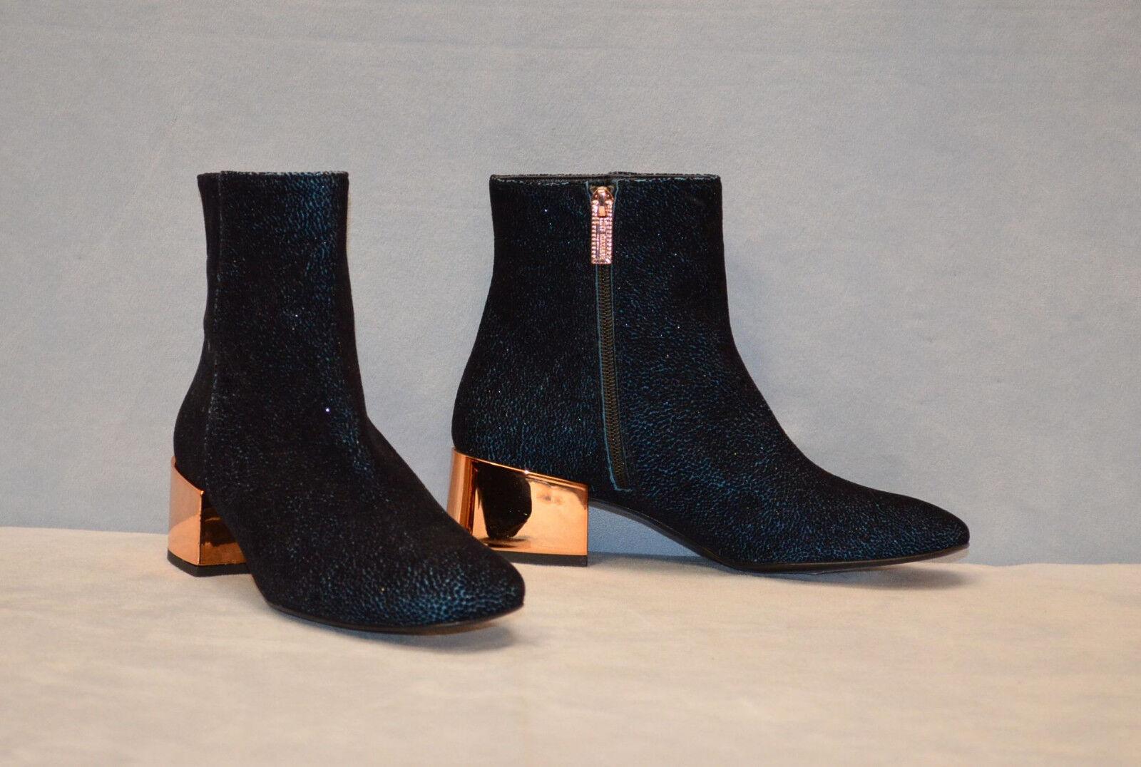 D0 NEW IVY KIRZHNER Ringo Metallic Block Heel Ankle Stiefel schuhe Größe 37.5  595
