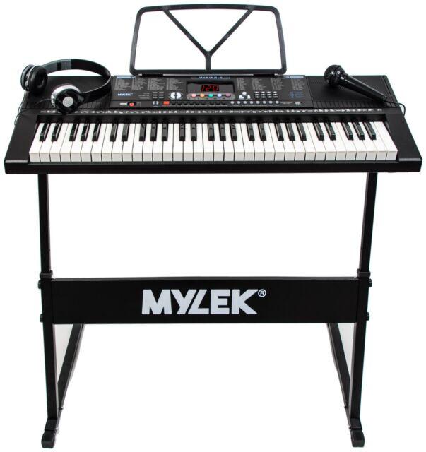 Mylek MY61KB 61 Keys Digital Electronic Keyboard - Black