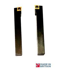 20mm Paio di Girevole e Fronte Utensili da Tornio /& 2 Ccmt 09T304 Inserti