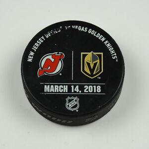 best website a71e4 7c5d9 Details about Vegas Golden Knights Warm Up Puck Used 3/14/18 VGK Vs New  Jersey Devils Game