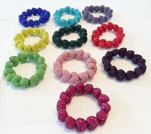 CRYSTAL-SPARKLY-STRETCHY-LARGE-23mm-HEART-BRACELET-CZECH-CRYSTALS-16-COLOUR