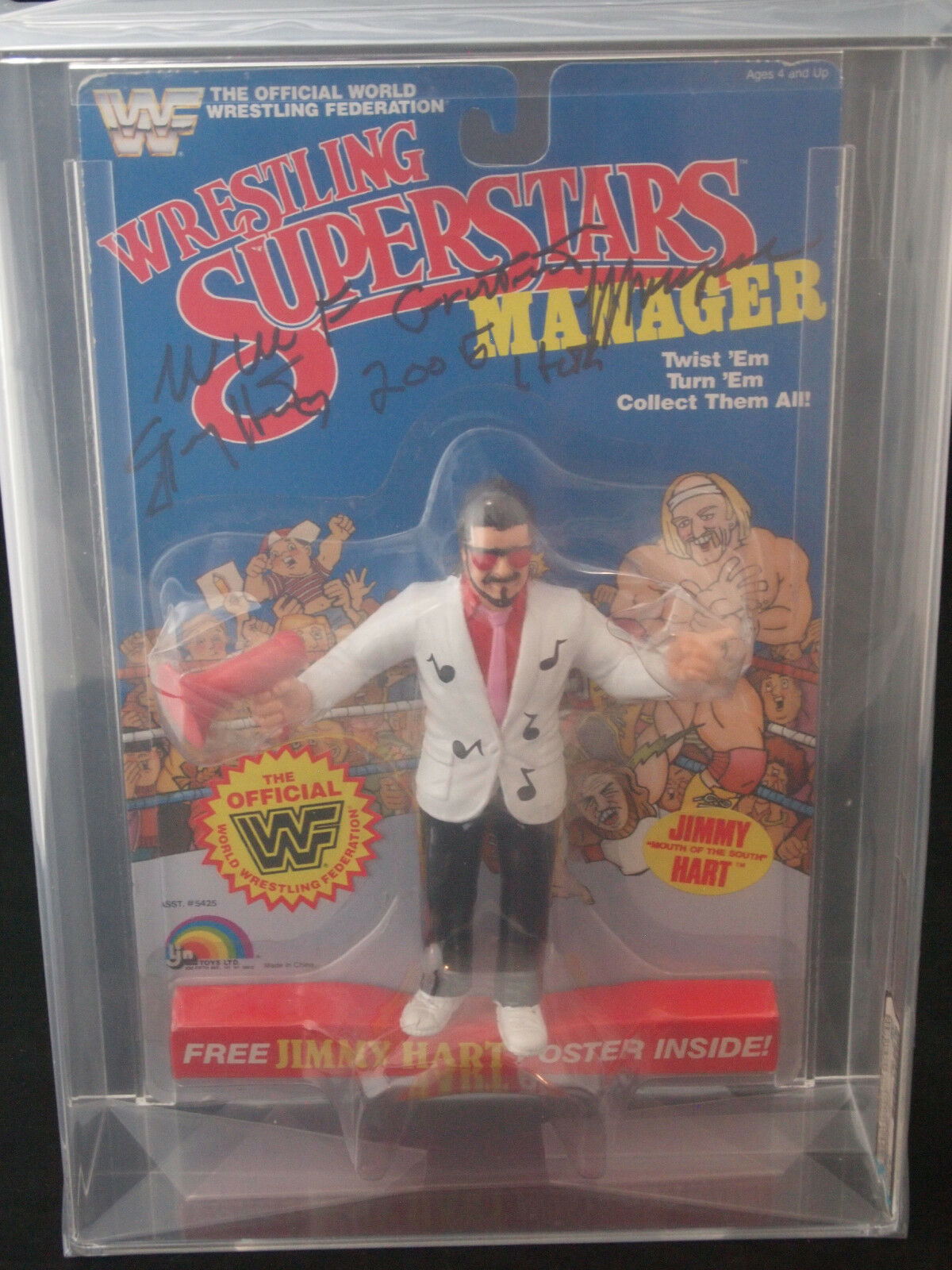 1986 LJN WWF WRESTLING SUPERSTARS JIMMY HART SERIES 3 SIGNED AFA 60 NO HEART PSA