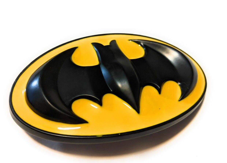 Classic Logo Batman belt buckle (full metal hi gloss) DC ,great gift collectible
