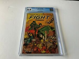 FIGHT COMICS 84 CGC 6.0 PRE CODE WAR AWESOME ACTION COVER FICTION HOUSE 1953