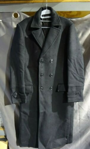 APTRO Men's Business Premium Wool Trench Coat Sli