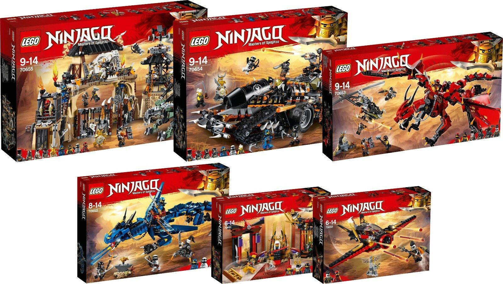 LEGO Ninjago 70655 70654 70653 70652 70651 70650 Dragon Super Set N6 18