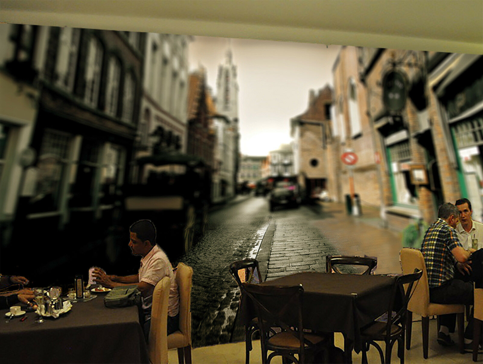 3D Street Alley Car 56 Wall Paper Wall Print Decal Wall Deco Indoor Mural Summer