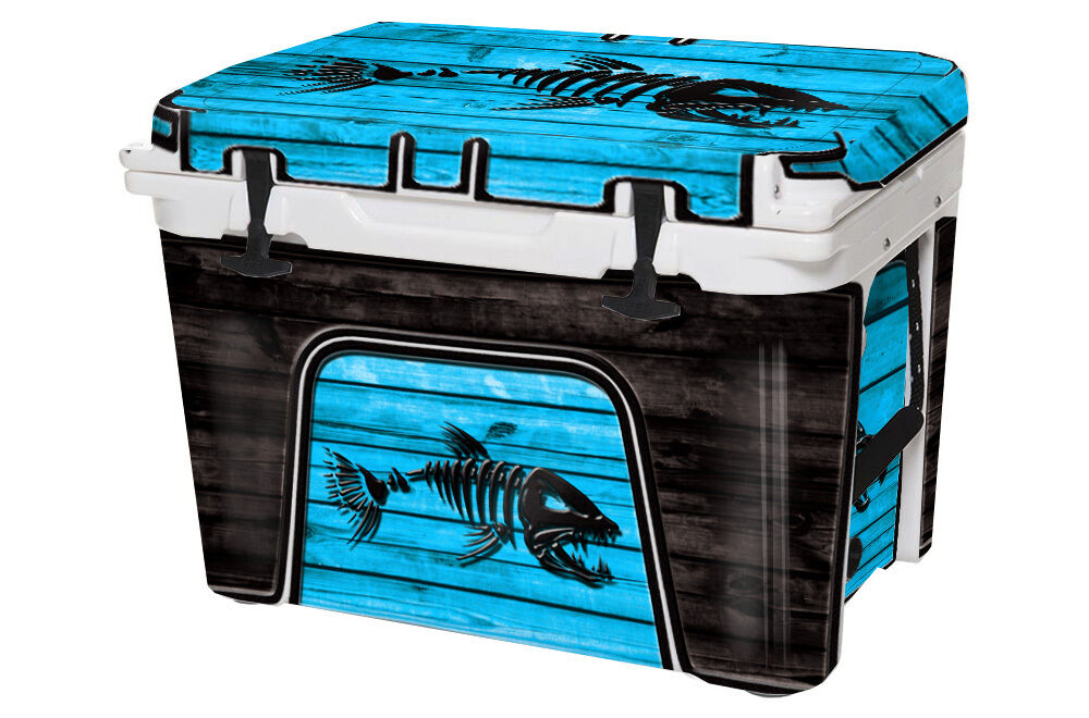 USATuff Custom Cooler Decal Wrap fits YETI Tundra 45qt FULL Bonefish Blau WD