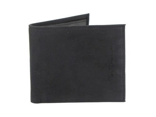 Gift Boxed Mens Ben Sherman Gabardine Billfold Wallet Black