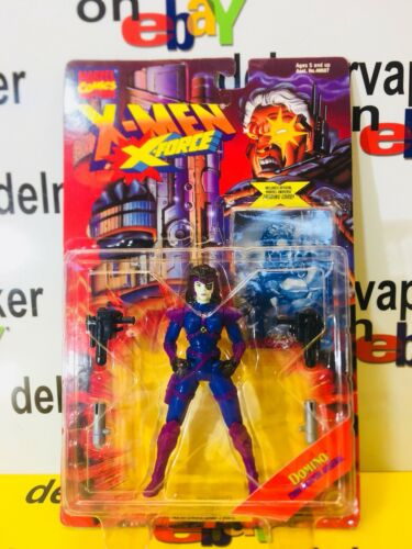 Domino XMEN X FORCE avec deux Arme Arsenal /& Marvel univers Trading CRD 1995