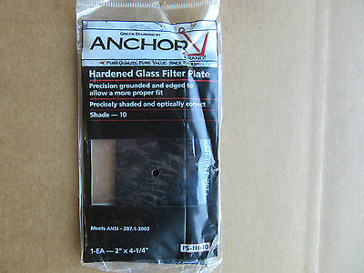 """NEW Anchor FS-5H-9 Hardened Glass Filter Plate Shade 9 4-1//2/""""x 5-1//4/"""" Free Ship"""