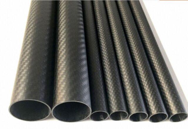 Fibre 1 x OD 28 mm x ID 26 mm x LONGUEUR 500 mm 3k Carbon Fiber Tube Roll Enveloppé