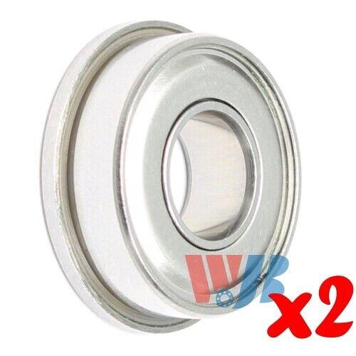 2pc Stainless Steel Miniature Ball Bearing WJB SFR2-5-ZZ Flanged