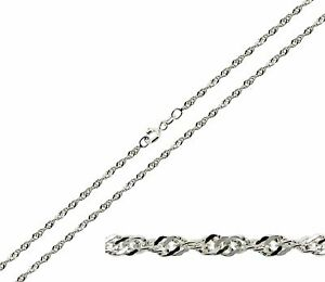 curb cut necklace silver mm sterling rose plated chain gold diamond