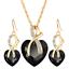 Women-Heart-Pendant-Choker-Chain-Crystal-Rhinestone-Necklace-Earring-Jewelry-Set thumbnail 39
