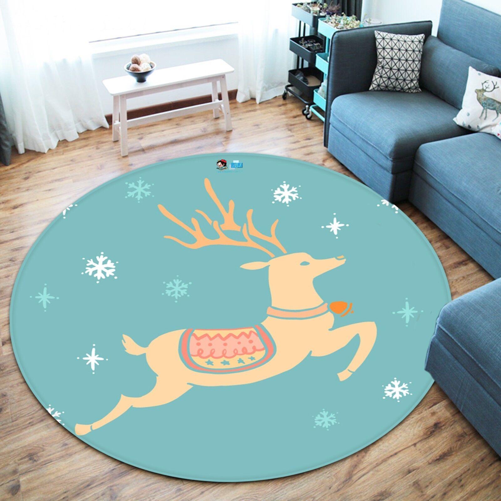 3d Natale Xmas 621 antiscivolo tappeto tappetino vano giri elegante TAPPETO de