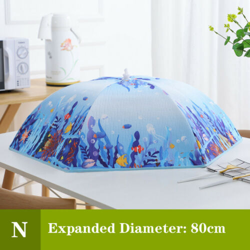 Foldable Table Food Cover Umbrella Style Anti Fly Mosquito Kitchen Meal Mesh