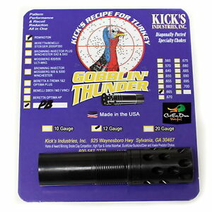 Image is loading KICKS-GOBBLIN-THUNDER-PORTED-TURKEY-CHOKE-TUBE-12GA-