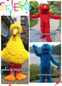 Hot Big Bird Sesame Street Mascot Costume Fancy Dress Adult Size Free Shipping