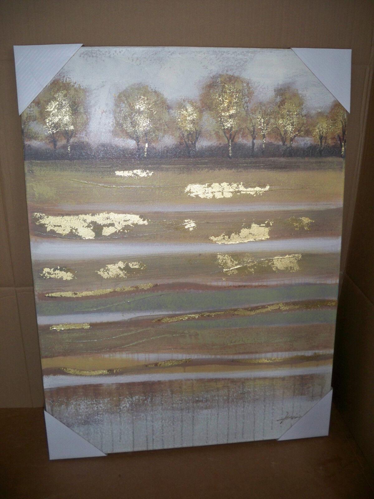 Bild Idille  handgemalt  auf Leinwand UNIKAT 100x 75 cm