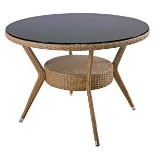 Kettler Medoc Gartentisch 103 Cm Rund Honig Tisch Fur Balkon