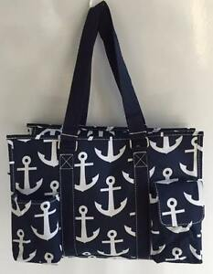 Canvas Handbag Gift Multi Pocket Organizer Tote Bag Nurses Teachers Love Them