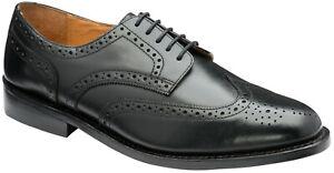 Hommes-Noir-Cuir-Chaussures-Anti-lacets-formelle-Robe-de-Mariage-Bureau-Chaussures-6-1